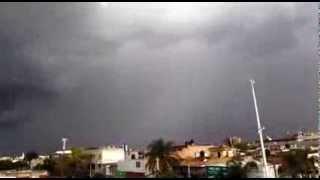 Llueve en Periférico Sur
