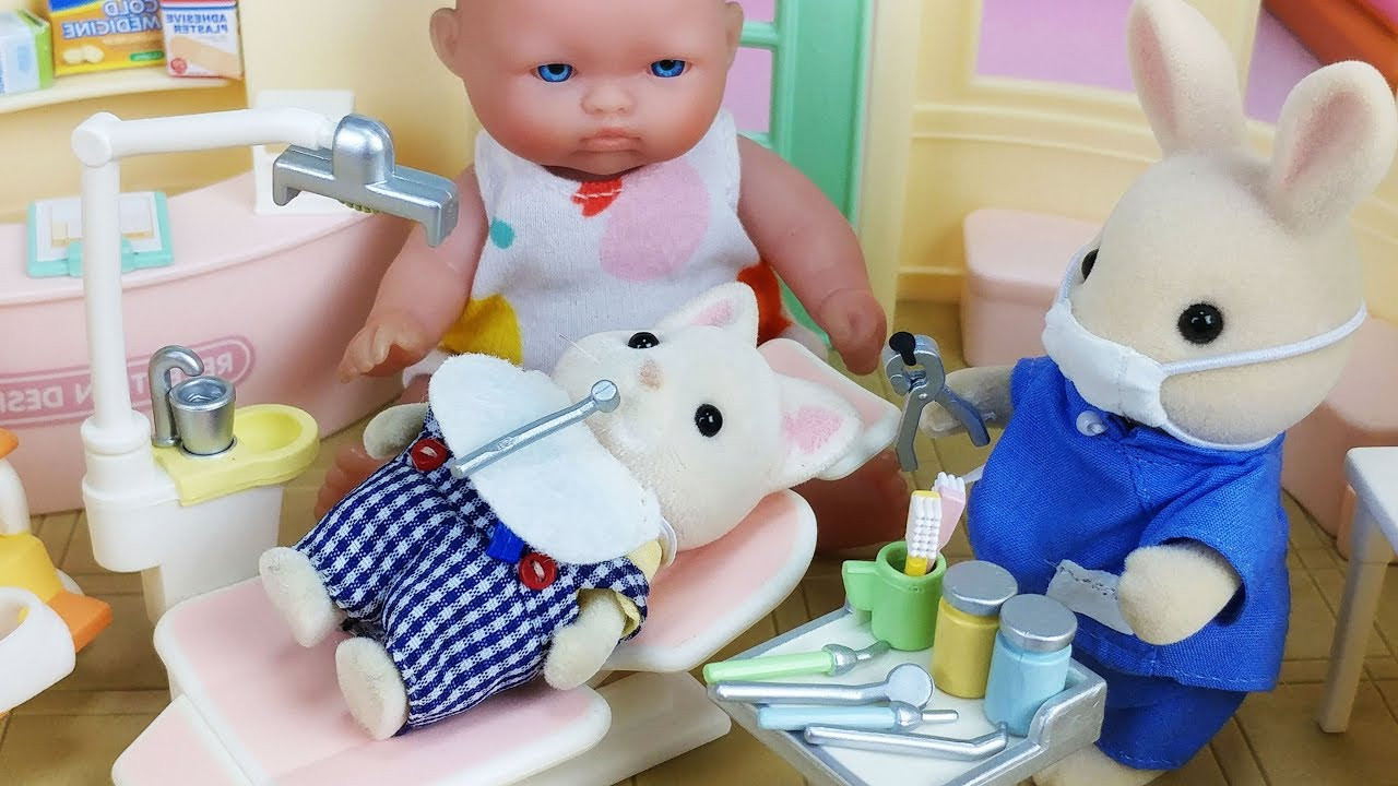 Baby Doll doctor and Dentist Hospital toys pororo play – 토이몽