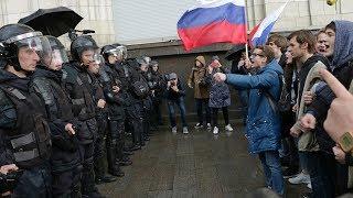 Молодежь на акции 7 октября в Москве