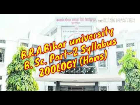 Syllabus Of B.Sc Part   2. Zoology (Honours), B.R.A.Bihar University  Muzafferpur.