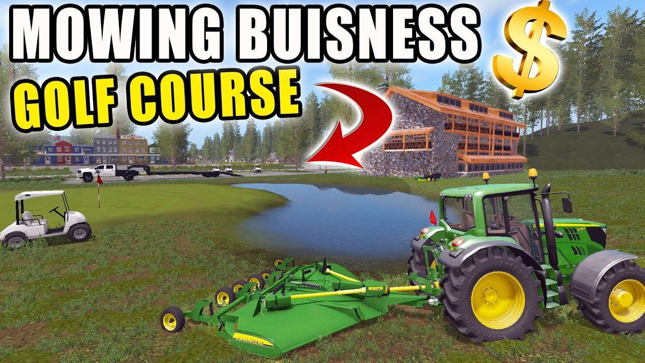 MOWING COUNTRY CLUB | SPENCER TV MOWING | 15FT BATWING | FARMING SIMULATOR  2017