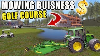 MOWING COUNTRY CLUB   SPENCER TV MOWING   15FT BATWING   FARMING SIMULATOR 2017