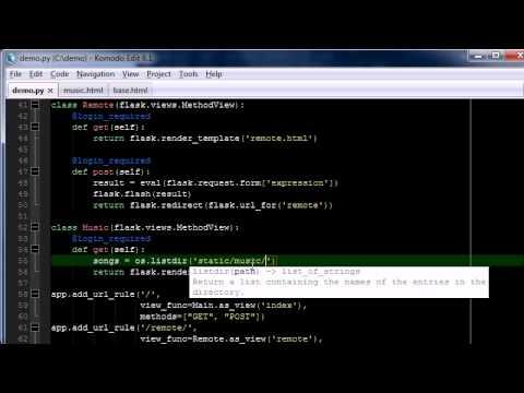 Python/Flask Tutorial part 4 - Music