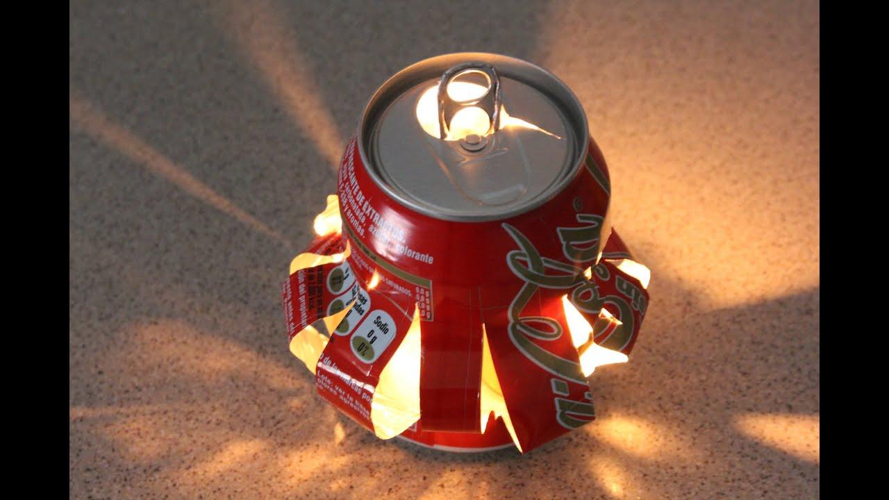 Reciclaje de latas farolillo reciclyng a coke youtube - Reciclar latas de refresco ...