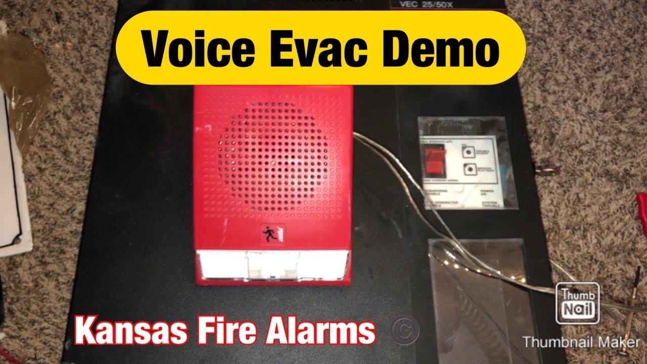 Fire Alarm Demonstration! Voice Evac Panel! (Notifier VEC 25/50X)