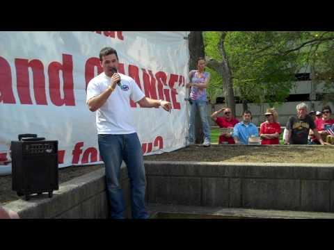 College Student Adam Meinecke Speaks to Cedar Rapids Tea Party