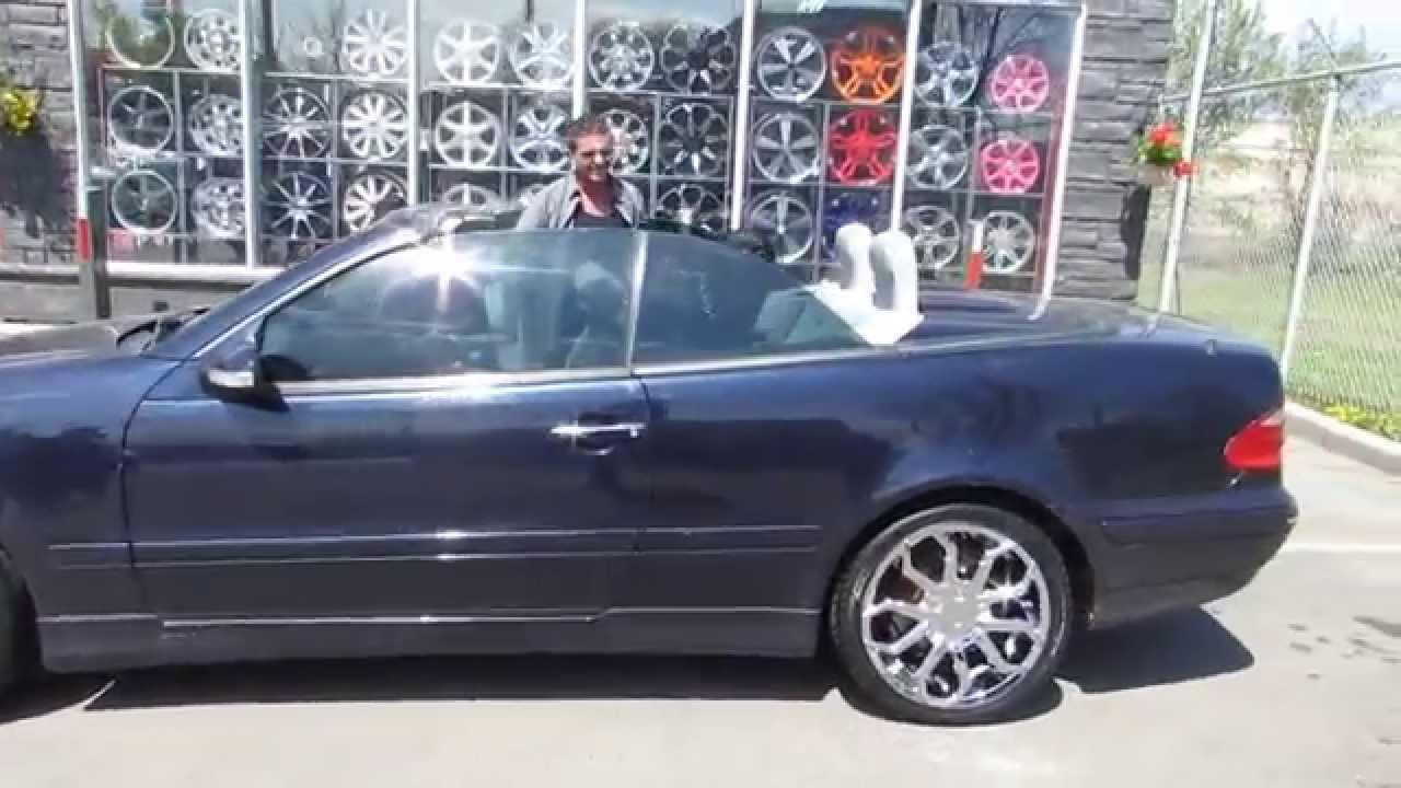 Hillyard Wheels 2002 Mercedes Clk 430 Convertible Riding On 18 Inch Chrome Rims Starr 308