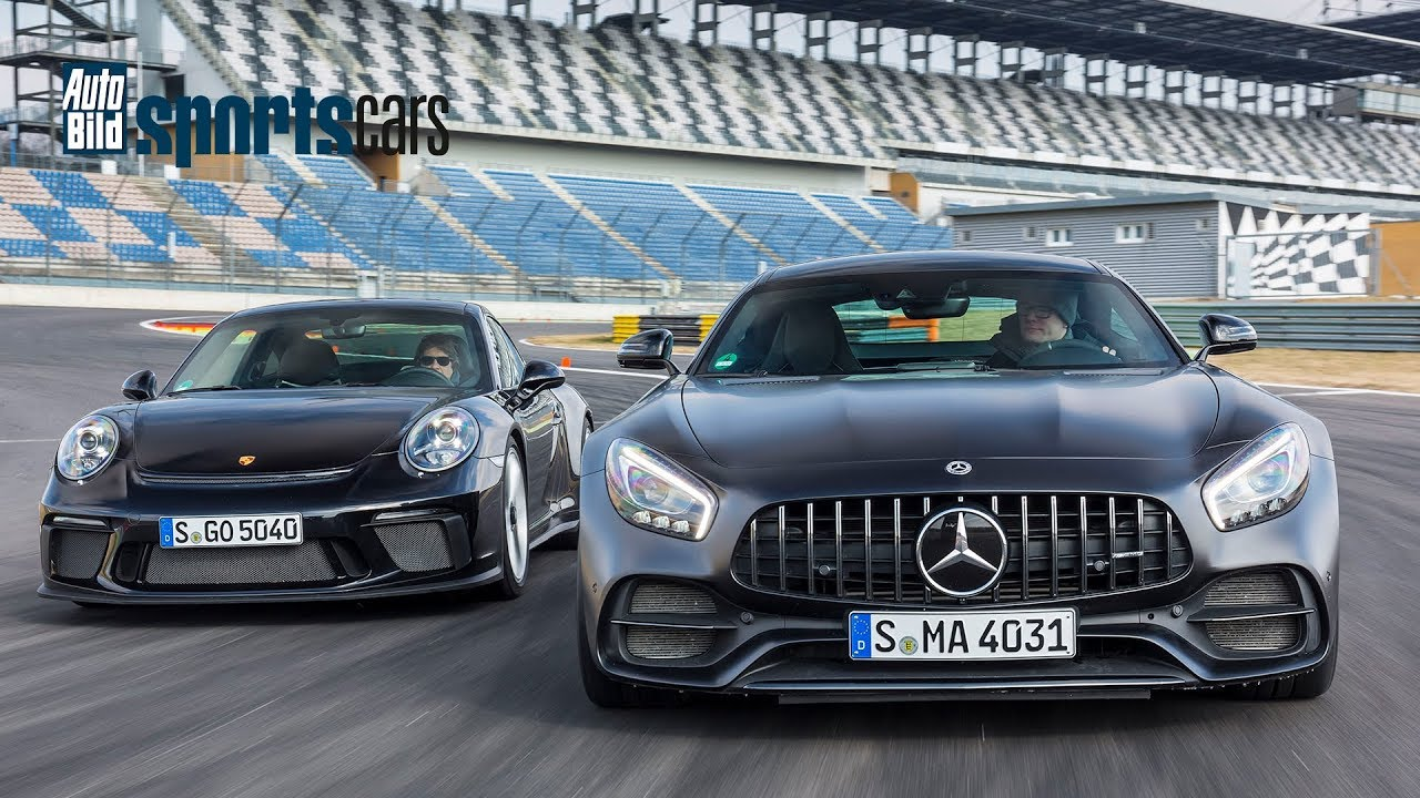 TRACK BATTLE: Mercedes-AMG GT C vs. Porsche 911 GT3 Touring Paket ...