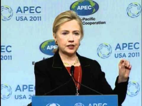 Secretary Clinton Delivers Remarks At 2011 Asia Pacific Economic Cooperation (APEC)