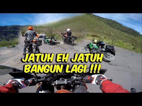 Berjatuhan di Medan Pasir Bromo Naik Kawasaki Versys X 250