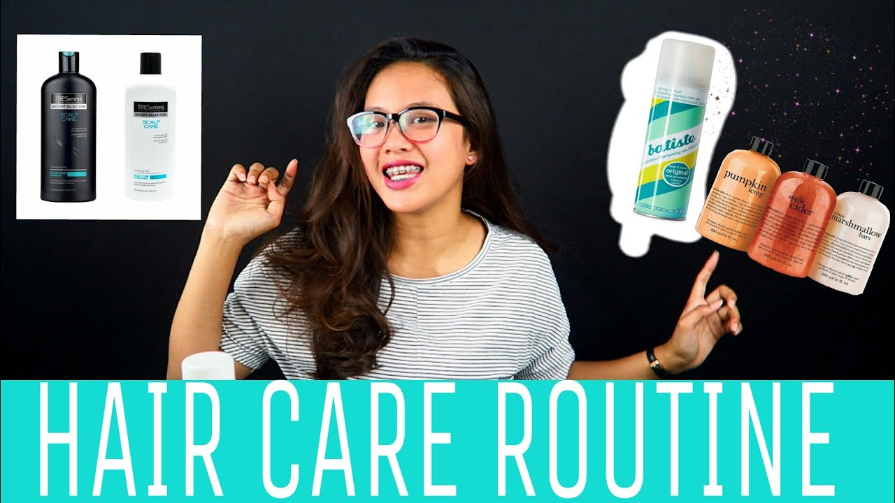 My Hair Care Routine Rambut Kering Dan Rontok Youtube