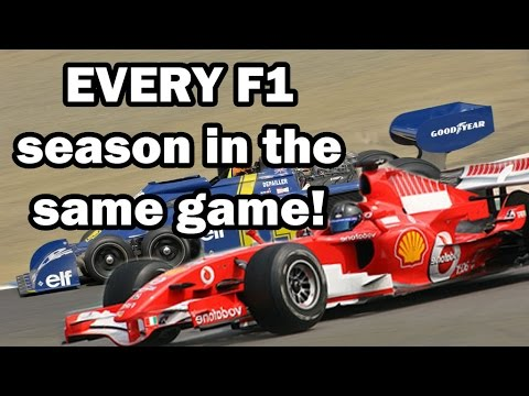 Every F1 Season in One Game! F1 1950 - 2016, all cars and all tracks from 66 years!