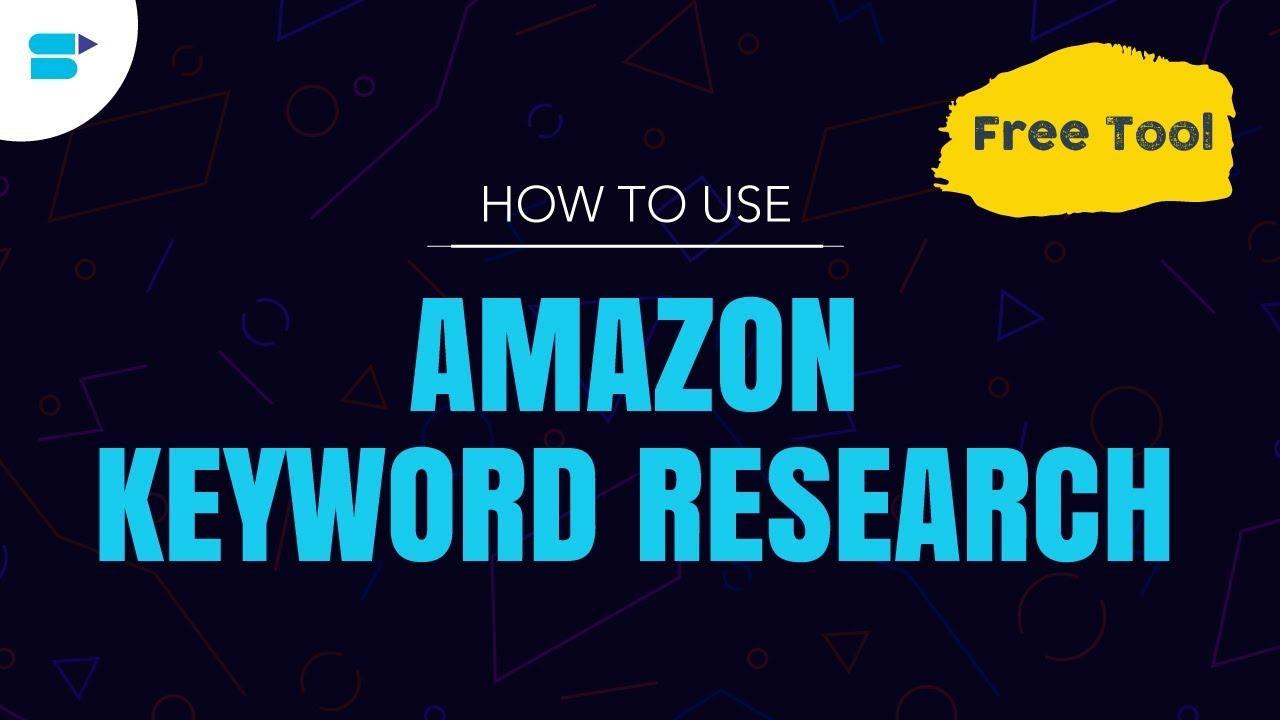 free amazon keyword research tool