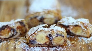Chocolate Banana Strudel Recipe - Marcel Cocit - Love At First Bite Episode 38
