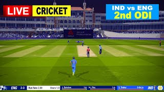 🔴ENG vs IND LIVE CRICKET 2nd ODI Match || LIVE SCORE & COMMENTARY | ENGLAND vs INDIA | LIVE CRICKET