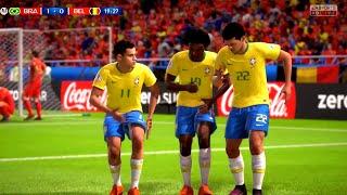 Brazil vs Belgium Quarter Final 2018 || FIFA World Cup Russia 2018 || FIFA 18 Gameplay 1080p 60fps