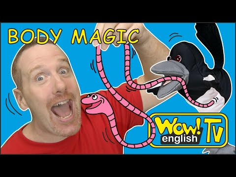 Body Magic Story for Kids from Steve and Maggie | Learn with Maggie and Wow English TV