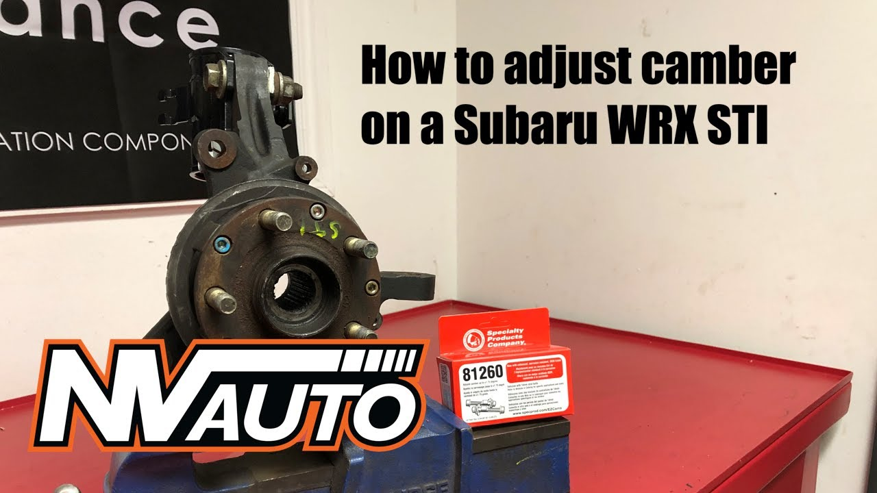 How to adjust camber and install camber bolts on a ...
