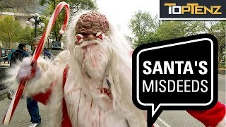 Top Ten Times Santa Ended Up on the Naughty List