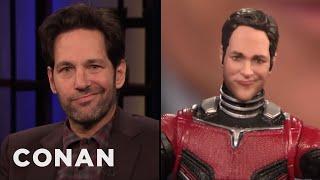 "Paul Rudd Thinks His ""Ant-Man"" Action Figure Looks Like An Asshole | CONAN on TBS"