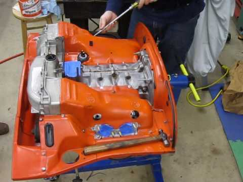 Porsche 914 engine tin assembly - YouTube