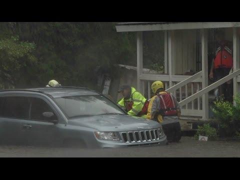 Hurricane Victim Rescued In South Carolina