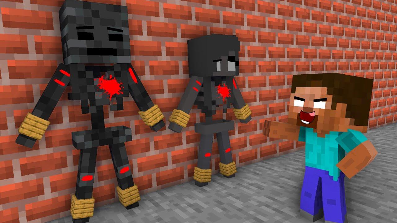 Download Monster School : EPIC HEROBRINE TOUCHING STORY CHALLENGE - Minecraft Animation