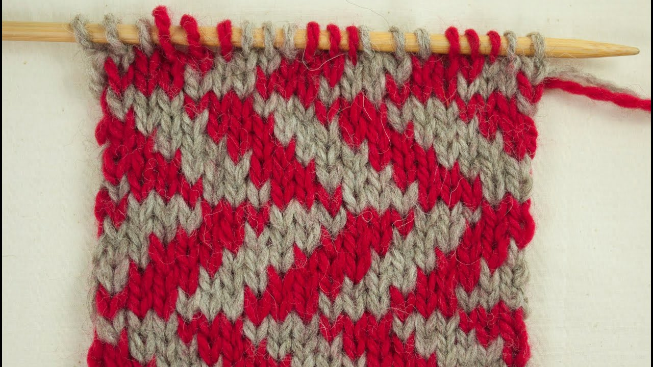 How To Knit Stranded Fair Isle - YouTube