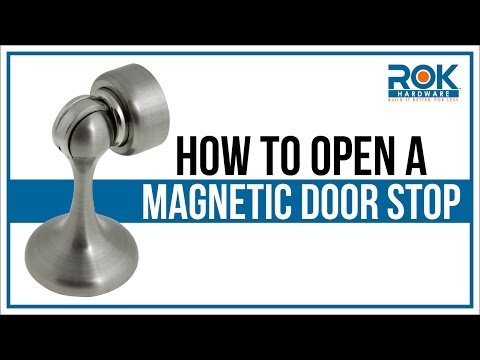 How to Open a Magnetic Door Stop