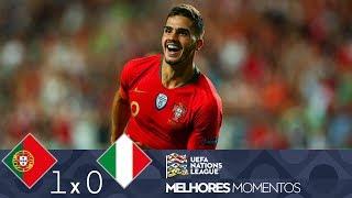 MELHORES MOMENTOS - PORTUGAL 1X0 ITÁLIA - UEFA NATIONS LEAGUE (10/09/2018)