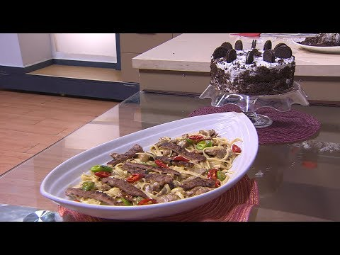 تورتة بصوص الشوكولاتة والبسكويت - مكرونة بشرائح اللحمة والطماطم المجففة: اتفضلوا عندنا (حلقة كاملة)
