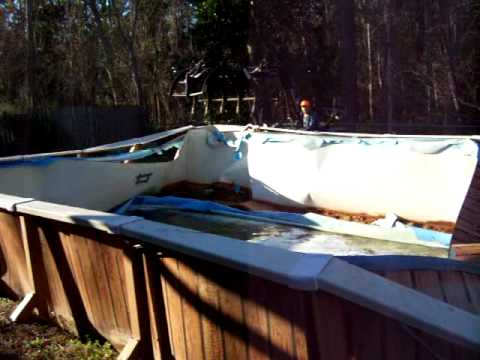 Above Ground Pool Demolition Youtube