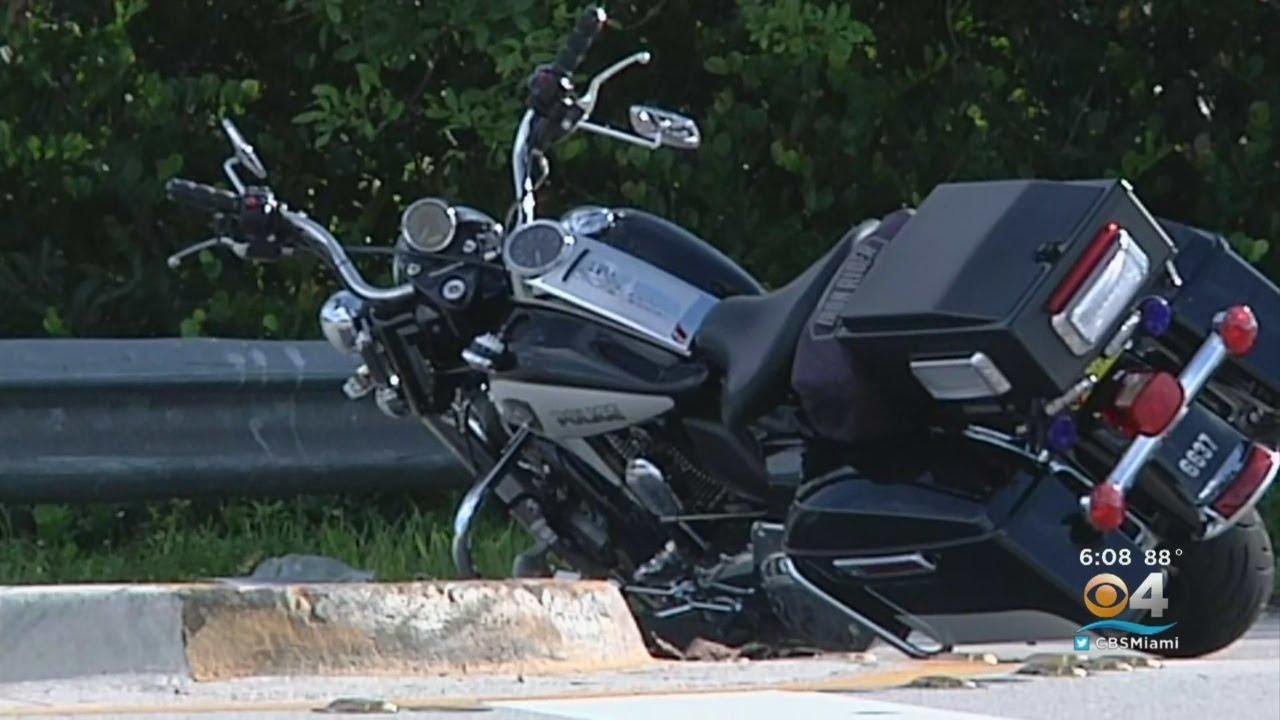 Motorcycle Crash Sends Pembroke Pines Police Officer To Hospital