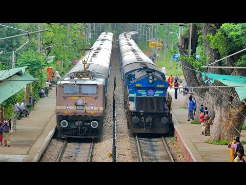 Thumbnail: BEST Ever PARALLEL ACTION !! Electric & Diesel : Indian Railways