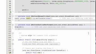 tutorial#8  ouvrir une nouvelle JFRAME a partir de click sur Jbouton JAVA