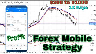Best Forex Strategy for Beginners | Best Mobile Trading Setup | Grow $200 to $1000