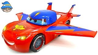 Disney Car Lightning McQueen turned into a airplane.
