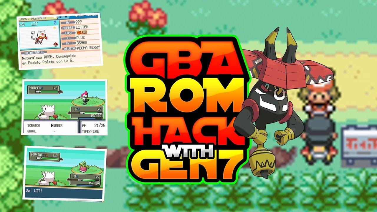 New Pokemon Gba Rom Hack With Gen 7 Alola Forms Shinies Gen 7 Legendaries 2018 Youtube