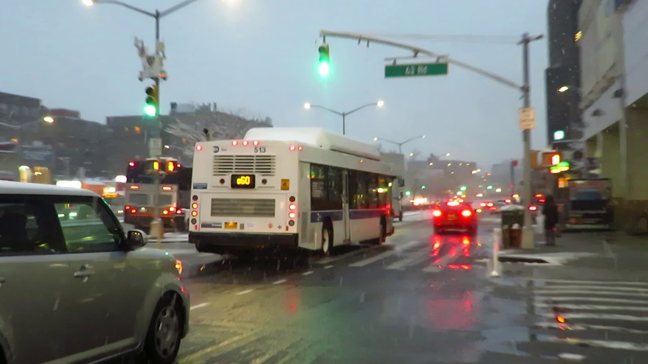 Mta Bus Special East Midtown Bound C40lf 513 Q60 At 63 Dr Queens