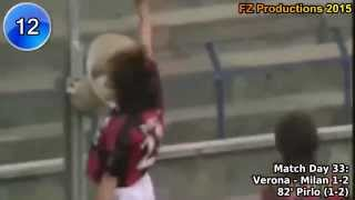 Andrea Pirlo - 58 goals in Serie A (part 2/4): 11-31 (Milan 2001-2005)