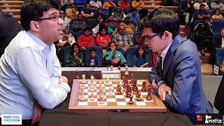 Vishy Anand vs Anish Giri | Tata Steel Chess 2019 | Uncut version