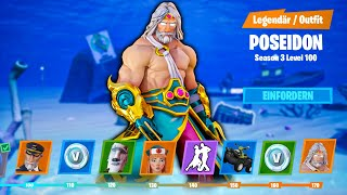 Fortnite SEASON 3 BATTLE PASS bis Stufe 100 KONZEPT | Deutsch