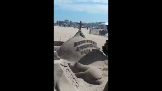 Copacabana,escultura de areia