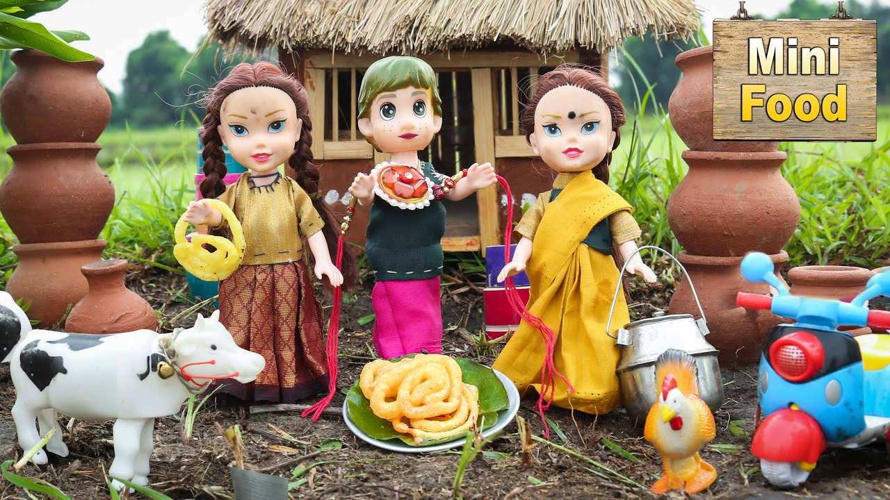 Raksha Bandhan Special Sweet Recipe | Mini Jilebi Recipe | Mini Cooking | Tiny Cooking | Mini Food