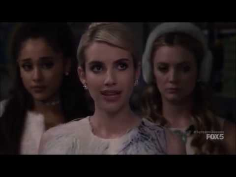 Scream Queens 1x01 - The Chanels and the pledges hide Ms. Bean's body