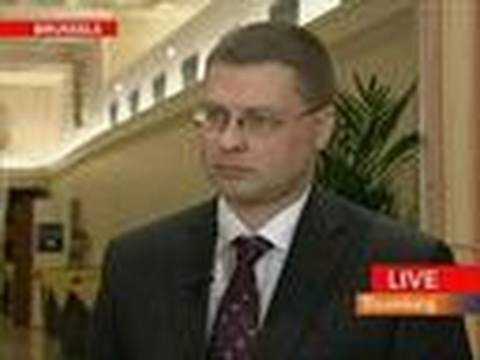 Dombrovskis Says Talk of Euro Accession Delays a `Worry'