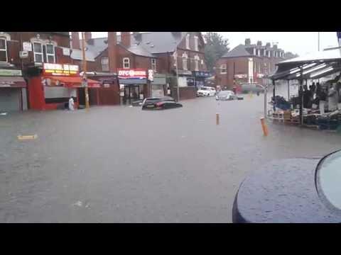 Birmingham flood in Handsworth area 08.06.2016