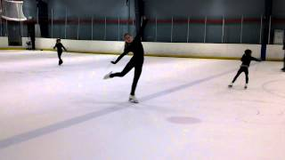Figure Skating attitude spin with ICE BEAR
