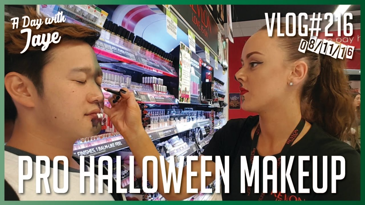getting my halloween make up done 216