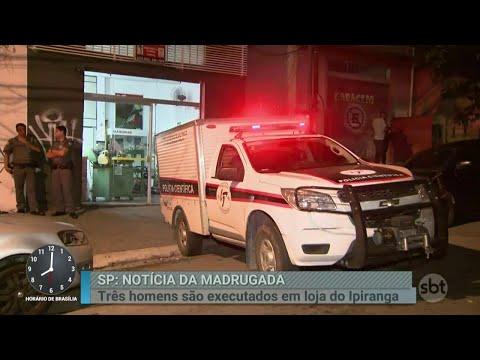 Polícia investiga triplo homicídio na zona sul de São Paulo | Primeiro Impacto (27/03/18)